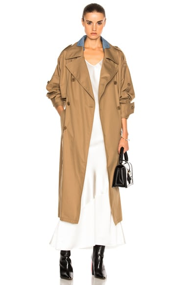 Waterproof Cotton Twill Trench
