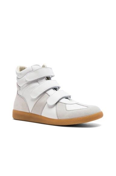 Calfskin Velcro High Tops