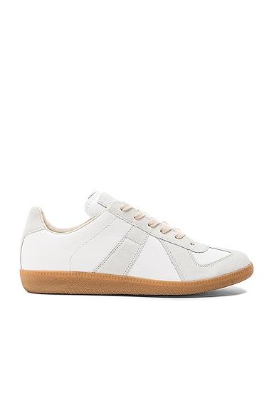 Replica Calf & Lambskin Leather Sneakers