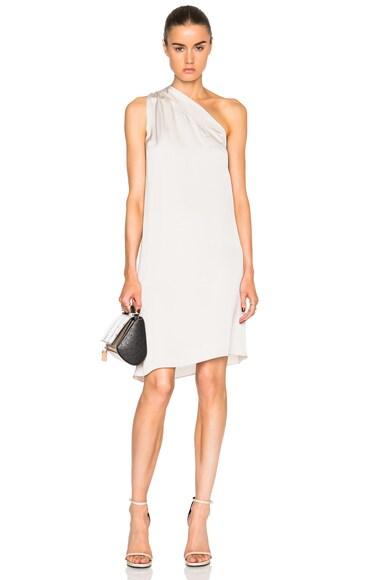 Silk Charmeuse Asymmetrical Dress