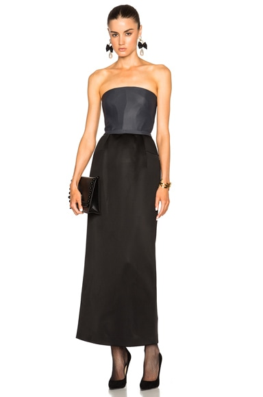 Soft Neoprene Strapless Dress