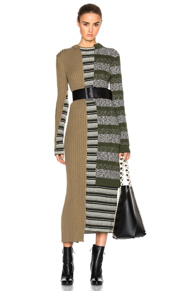 Mixed Knit Dress