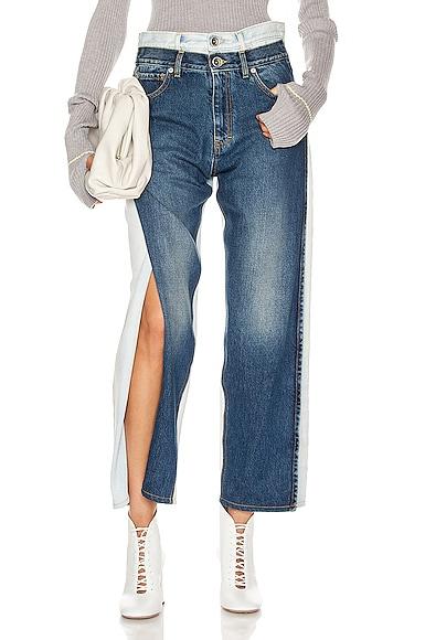 Two Tone Wide Leg Jean