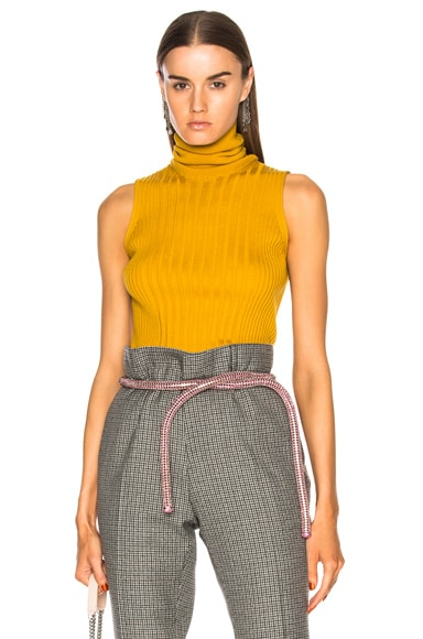 Turtleneck Sleeveless Knit Top
