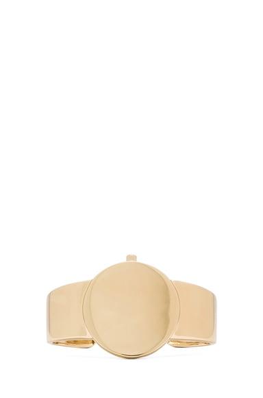 Brass Cuff with Medallion