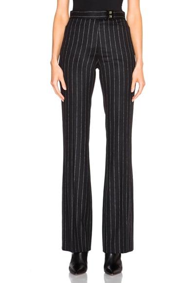 Pinstripe Wool Alpaca Trousers