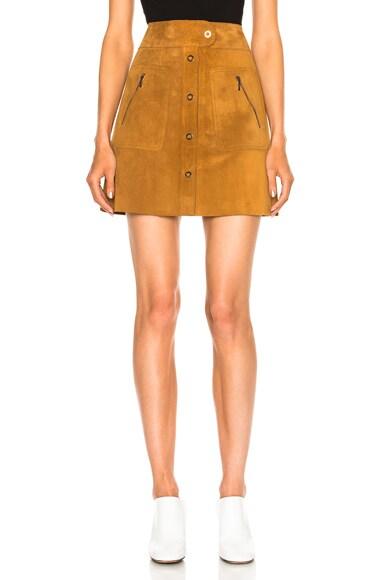Crust Leather Mini Skirt