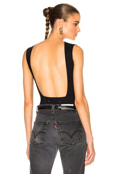 Technical Stretch Jersey Backless Bodysuit