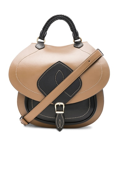 Bicolor Leather Backpack