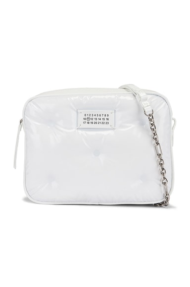 Glam Slam Tufted Chain Crossbody Bag