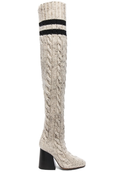 Knit Knee High Boots
