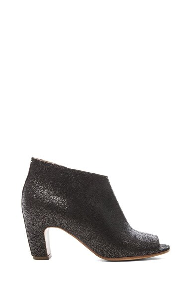 Stingray Embossed Leather Booties