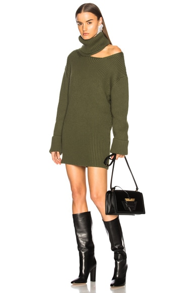 Cutout Turtleneck Knit Dress