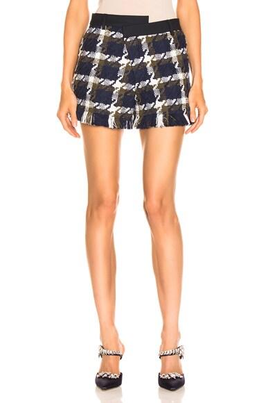 Tweed Asymmetrical Waist Short