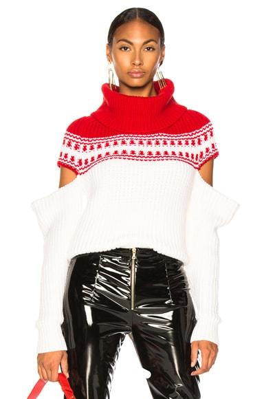 Slashed Sleeve Fairisle Sweater