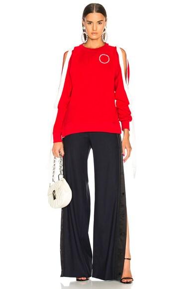 Raglan Snap Sleeve Pullover