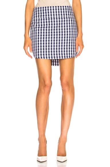 Gingham Shirt Tail Skirt