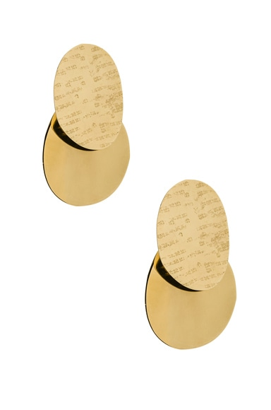 Textured Ellipse Earrings