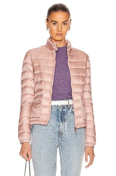 Moncler Lans Giubbotto Jacket In Blush