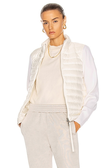 Moncler Cardigan Tricot Jacket in White