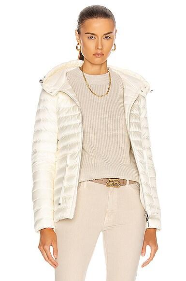 Moncler Raie Giubbotto Jacket in White