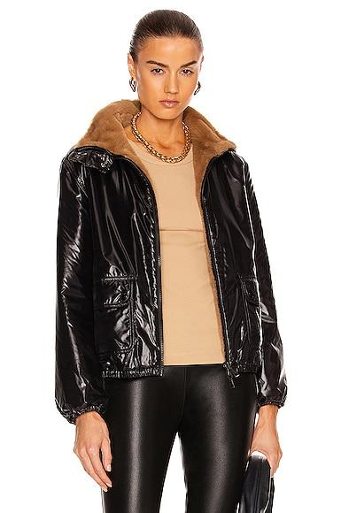 Moncler Adoxe Reversible Jacket in Brown,Black