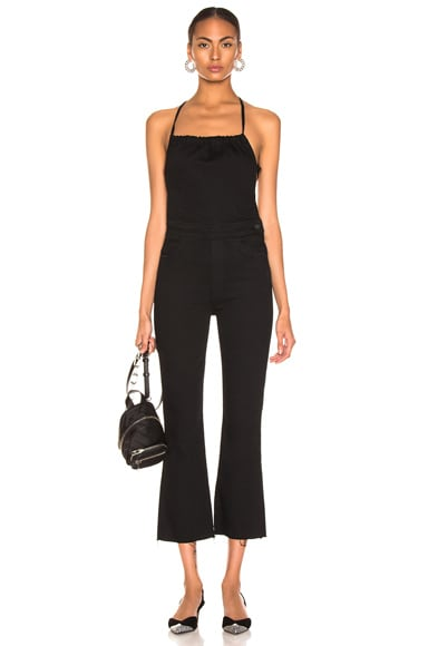 Tie Back Hustler Ankle Fray Jumpsuit