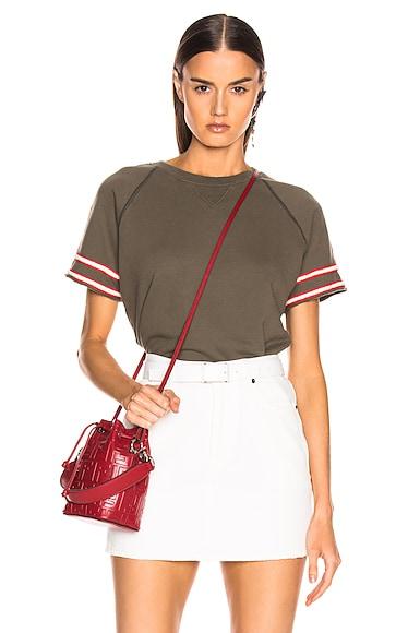 Short Sleeve Square Sweatshirt