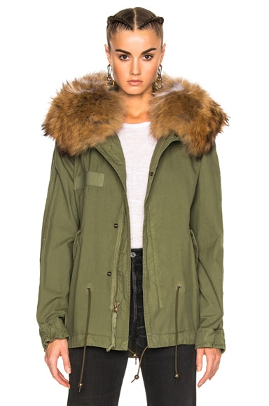 Mini Parka Jacket With Raccoon Fur