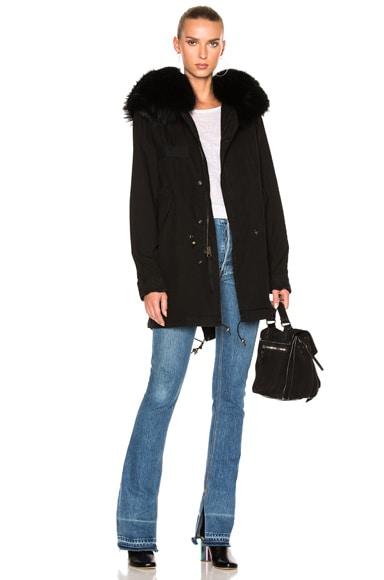 Midi Parka Jacket With Raccoon Fur
