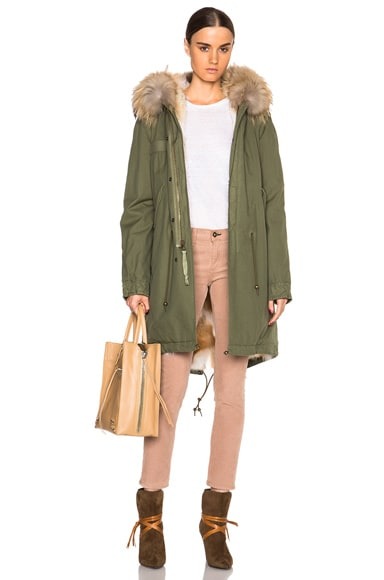 Army Parka With Coyote & Raccoon Fur