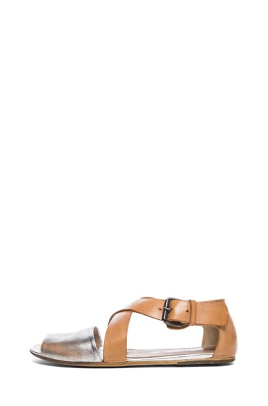 Leather Criss-Cross Sandals