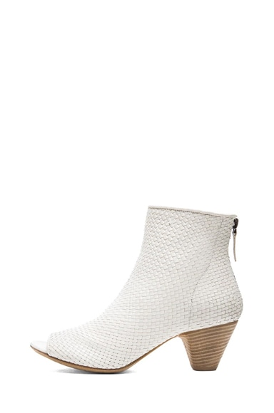 Neo Woven Leather Booties
