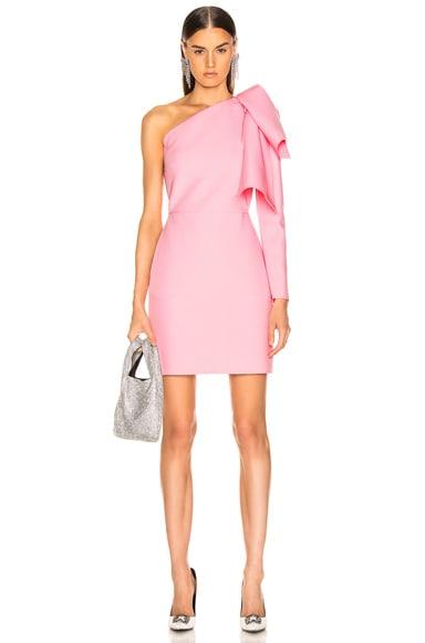 One Shoulder Crepe Dress