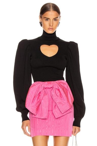 Heart Keyhole Sweater