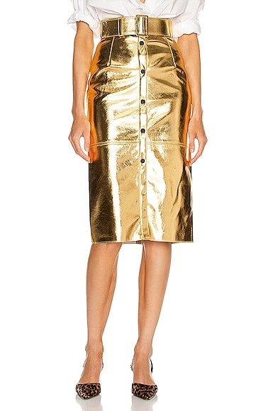 Long Metallic Skirt