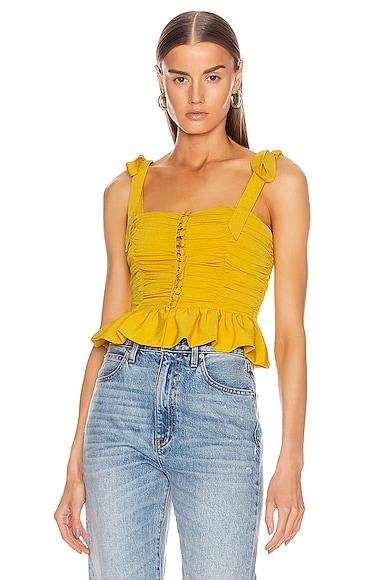 Ruched Button Up Sleeveless Top