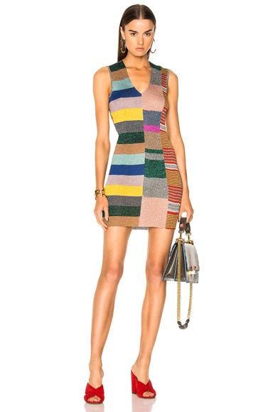 Sleeveless Printed Knit Mini Dress