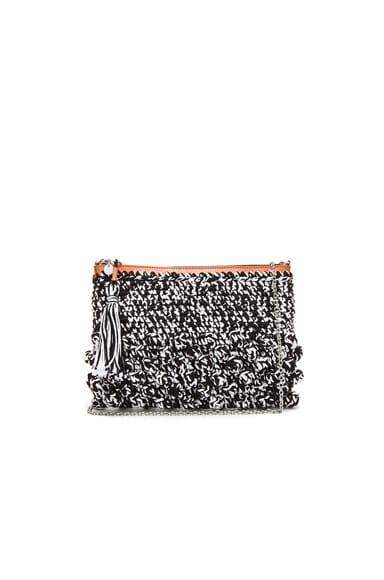 Melange Raffia Tassel Bag