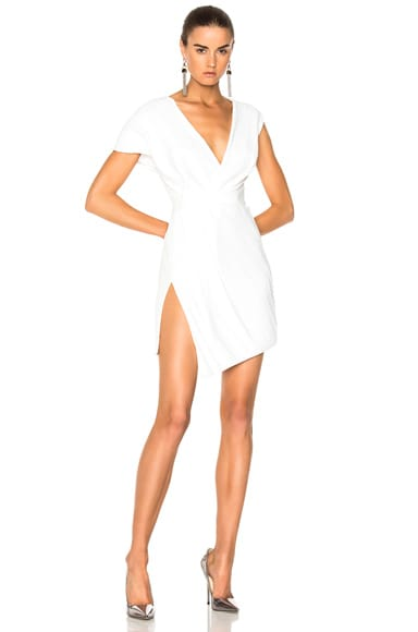 Plissee Wrap Dress