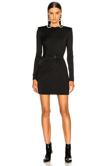 Fluid Jersey Long Sleeve Mini Dress