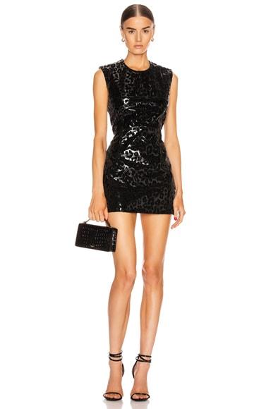 Leopard Vinyl Mini Dress