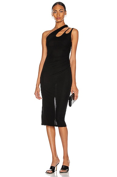 Mugler CUTOUT ONE SHOULDER DRESS