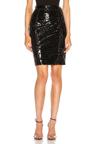 Leopard Vinyl Skirt