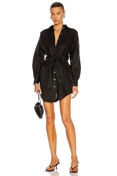 Marissa Webb EMMERSON LINEN SHIRT DRESS