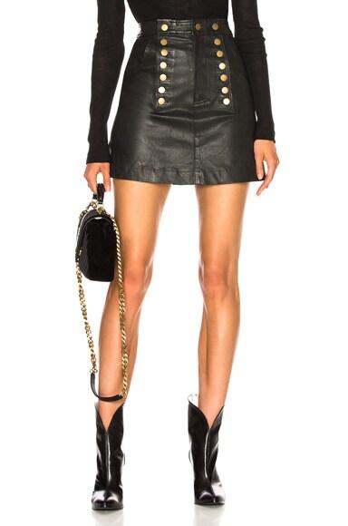 Rowena Stretch Leather Skirt