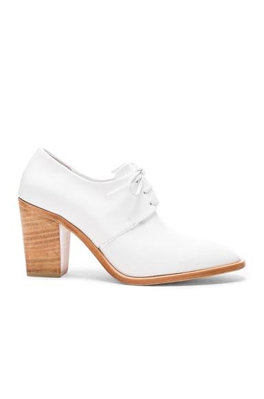 Leather Flavia Heeled Loafers
