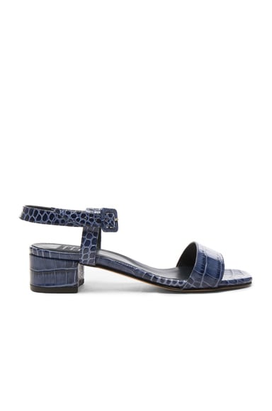Embossed Leather Sophie Sandals
