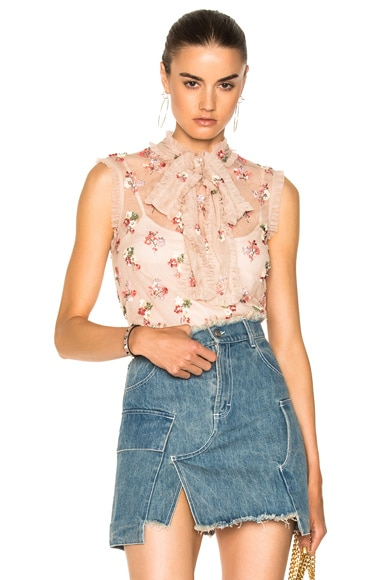 Ditsy Bow Top
