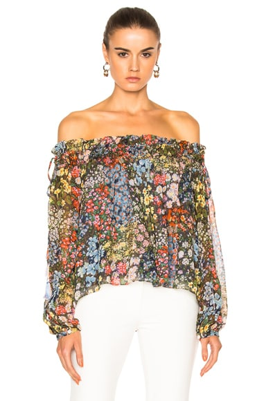 Flowerbed Smock Top